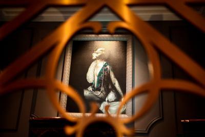 Beaded artwork by artist Binka Rigava at the Carousel Bar in Hotel Monteleone