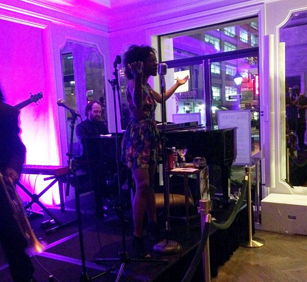 Singer Nayo Jones performed at our Carousel Bar & Lounge. She shared her experience on Instagram! (Photo courtesy Nayo Jones)