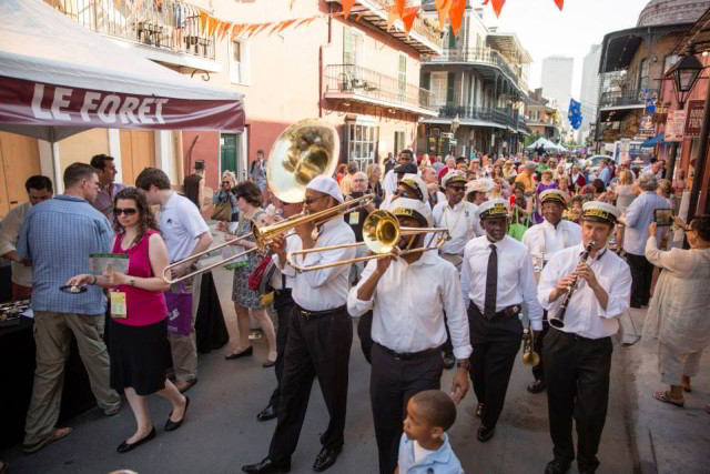 New Orleans Wine & Food Experience kicks off the weekend with the Royal Street Stroll. (Photo courtesy NOWFE)