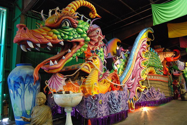 Mardi Gras World features kid-friendly daily tours of their float-making facilities. (Photo credit Paul Mannix)