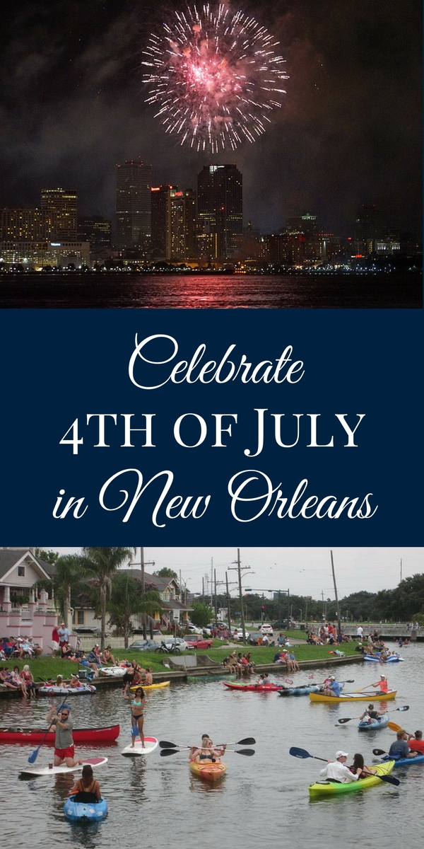 Celebrate our nation's birthday with a fireworks display over the Mississippi River, plus lots more during 4th of July weekend in New Orleans!