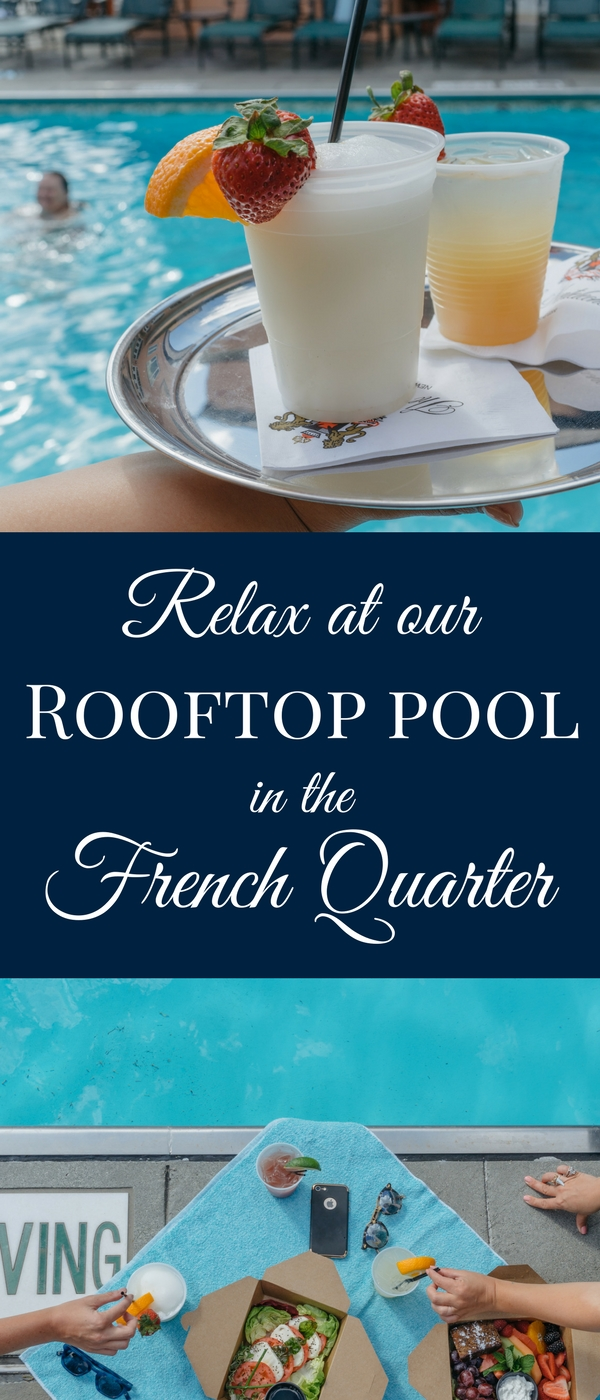There's no better place for incredible views of the French Quarter and Mississippi River than our luxury New Orleans hotel's one-of-a-kind rooftop pool!
