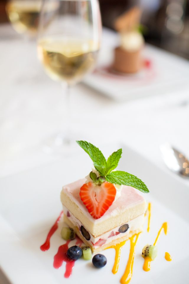 Dine at Criollo Restaurant for lunch during COOLinary Restaurant Month, and you could choose our Vanilla Marquise with Almond Genoise, Fruit Jam, Berries, Mango and Raspberry Sauce for dessert.