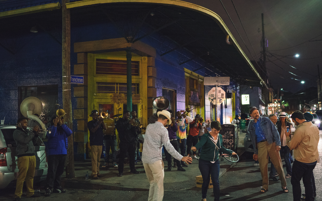 Revelers on Frenchmen Street (Photo: Paul Broussard)