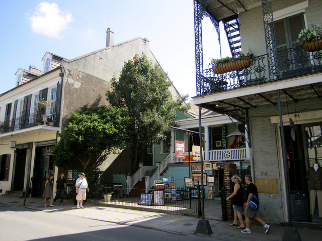Take a stroll along Royal Street where you'll find some of the most interesting shops the French Quarter has to offer. (Photo: La Citta Vita via Flickr)