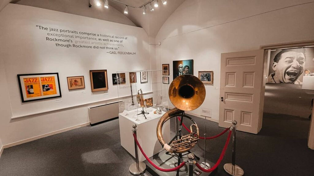 An exhibit at the New Orleans Jazz Museum, where you can learn about jazz and see incredible local musicians perform in the French Quarter