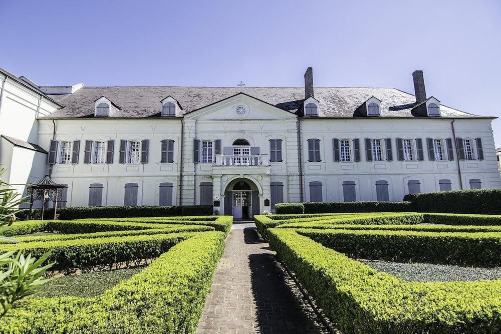 The Old Ursuline Convent in New Orleans' French Quarter, an historic landmark that visitors can explore.