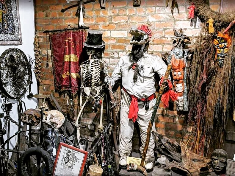 The New Orleans Historic Voodoo Museum, a hidden gem that's worth a visit in the French Quarter.