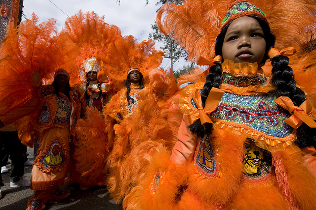 A colorful tradition the mardi gras indians and super sunday the mardi gras indians traditionally meet and greet other members of their community on super sunday m4hsunfo