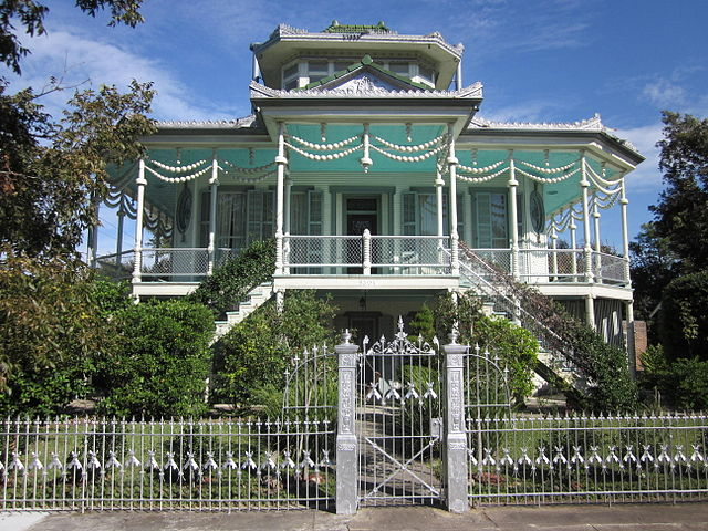 New Orleans is rich with interesting architechture, from the mansions of the Garden District, to the Steamboat Houses of the Holy Cross neighborhood, as seen above. (Photo courtesy Infrogmation via Wikimedia Commons)