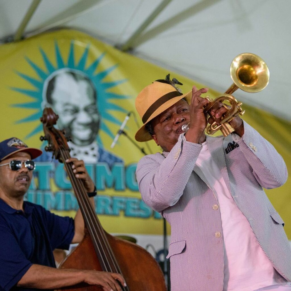 One of the highlights of Satchmo SummerFest in New Orleans this August is the 'Satchmo Salute' Second Line Parade honoring Louis Armstrong.