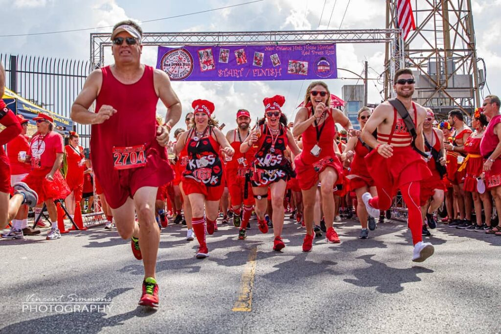 The Red Dress Run is a Fun Charity Event Every August in New Orleans