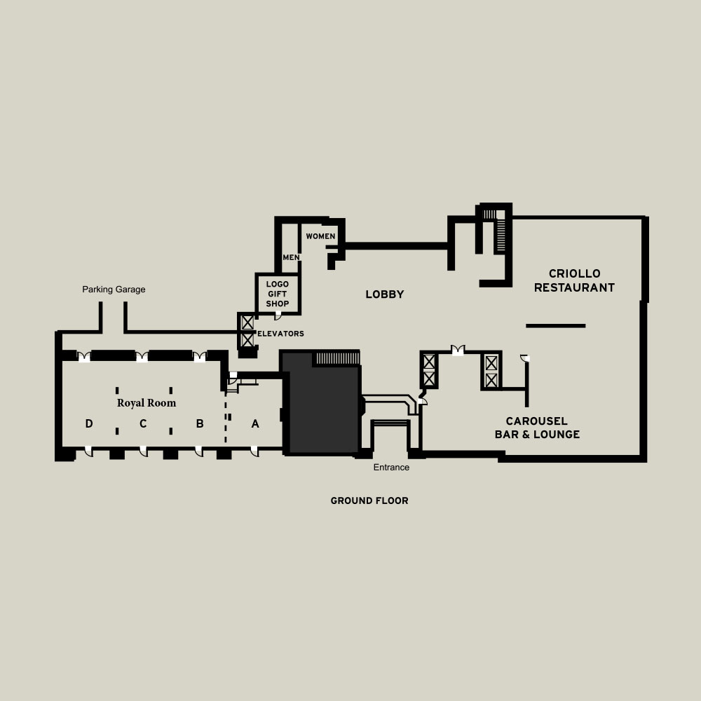 Hotel Monteleone Lobby Level