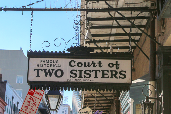 Court of Two Sisters French Quarter Bars with Outdoor Seating in New Orleans