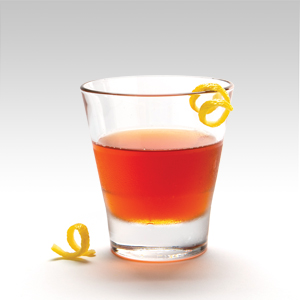 The legendary Sazerac was the first branded cocktail, first created in the mid-1850's. Today it's made with Rye Whiskey, Herbsaint, simple syrup, and Peychaud's Bitters and is the official cocktail of New Orleans.