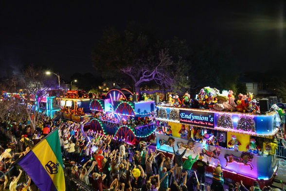 The largest parade of Mardi Gras, the Endymion parade, is one of the most anticipated celebrations of the Carnival season