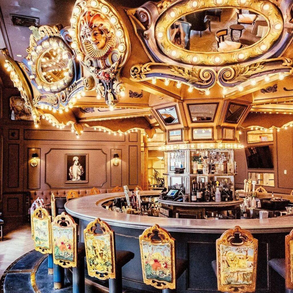 The Carousel Bar, an inconic New Orleans bar inside Hotel Monteleone