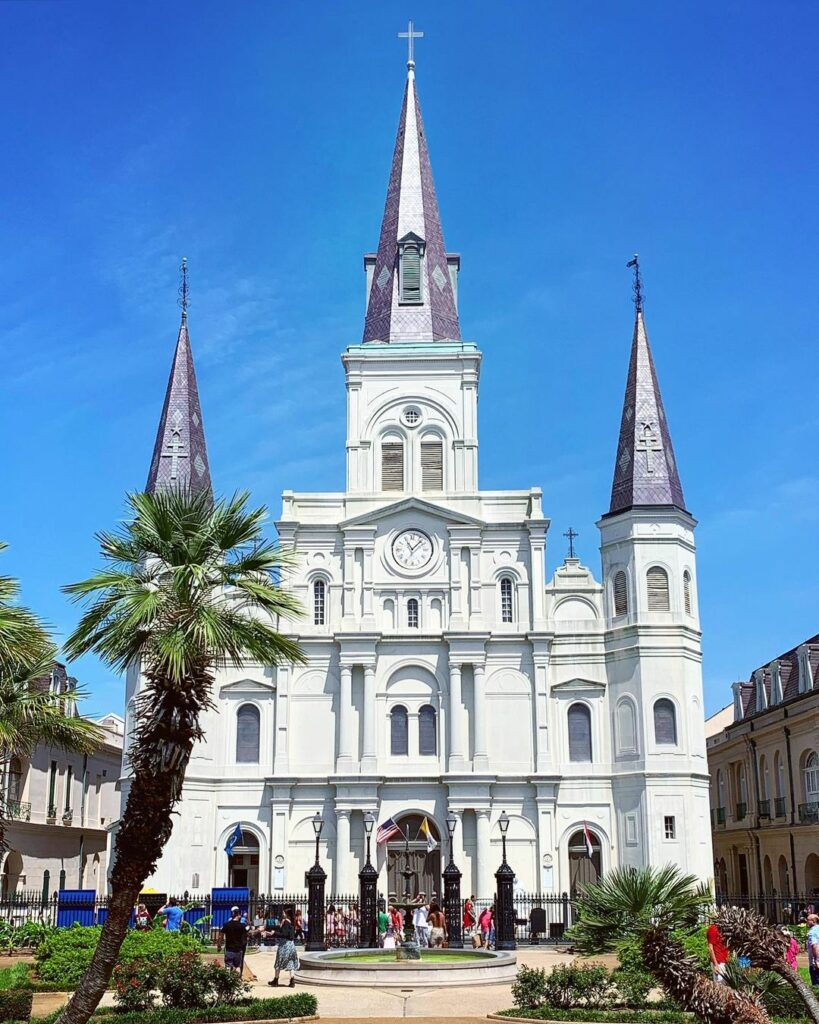 Jackson Square in the historic French Quarter
