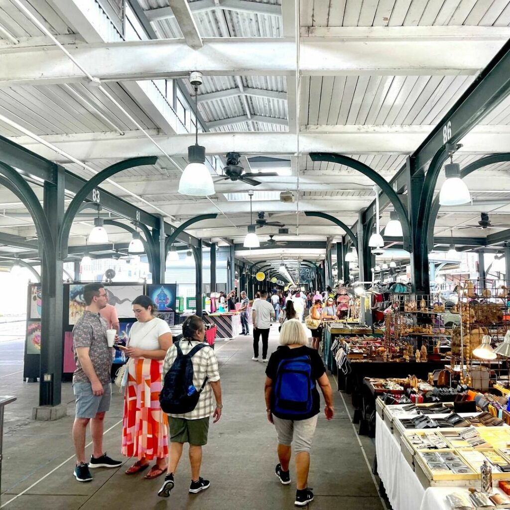 New Orleans' French Market, the open-air market in the French Quarter