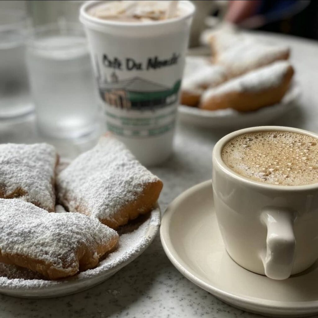 Cafe Du Monde in the French Quarter, a classic NOLA treat.