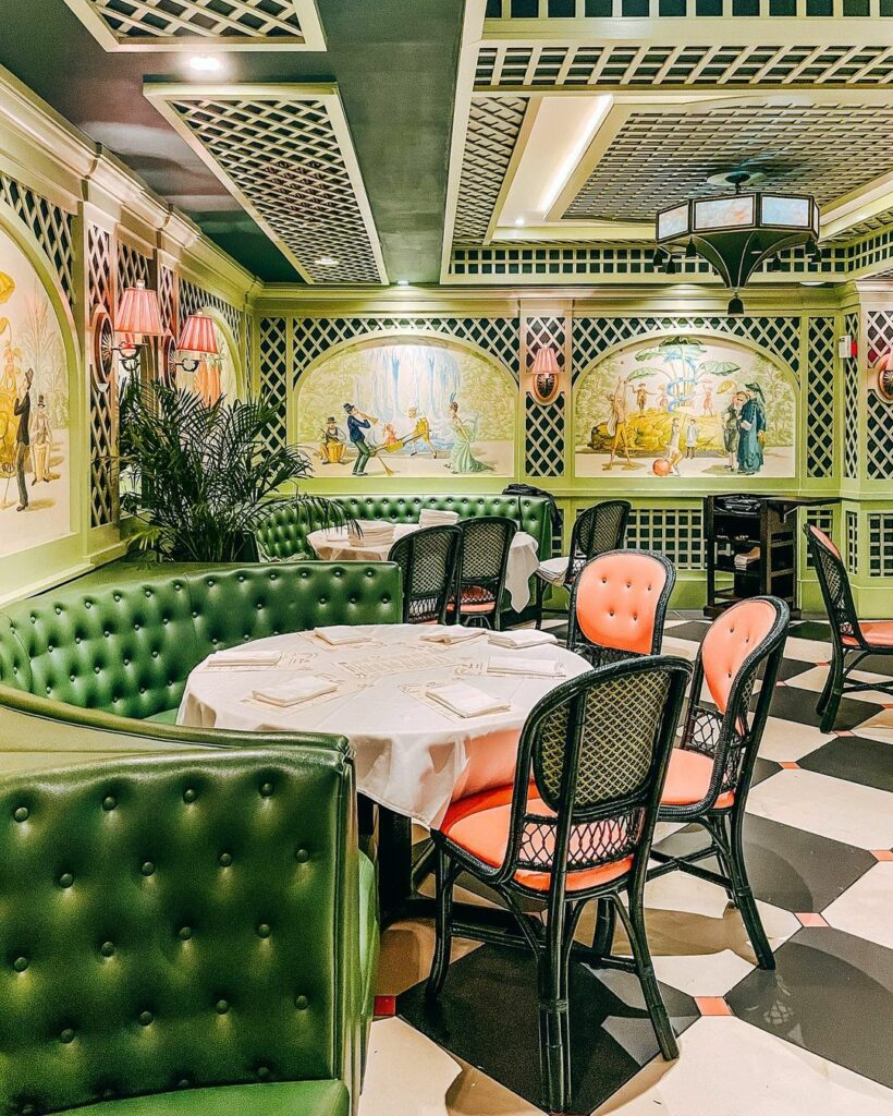 One of NOLA's favorite restaurants, Brennan's, serves famous dishes with stunning decor on Royal Street.